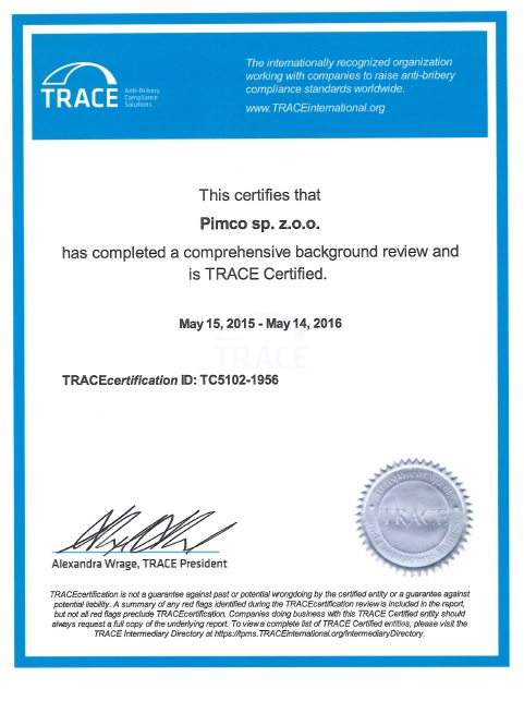 TRACEcertification